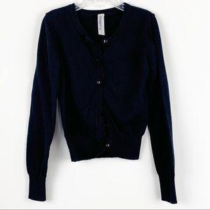 🦋 Girls Black Knit Sweater